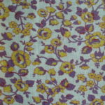 Yellow & Purple Flowers Feedsack