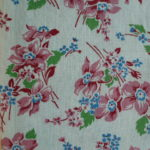 Pink & Blue Flowers Feedsack