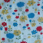 1960's Flowers on White