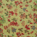 Red & Blue Flowers on Yellow Feedsack