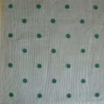 Green Dots on White Organdy
