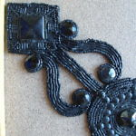 Black Beaded Medallion